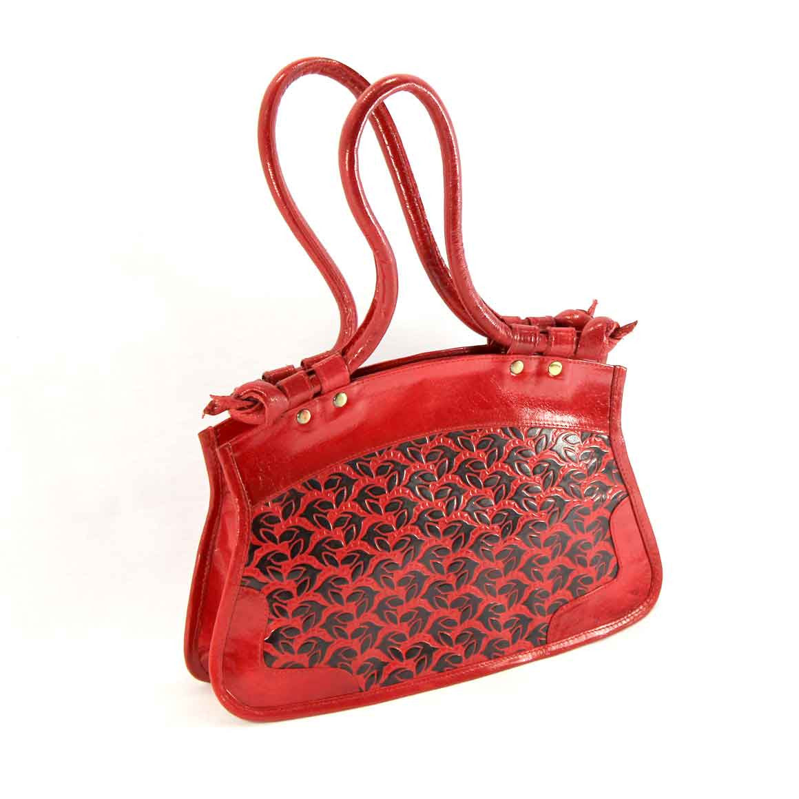 Fair Trade Ethical Red Leather Bag