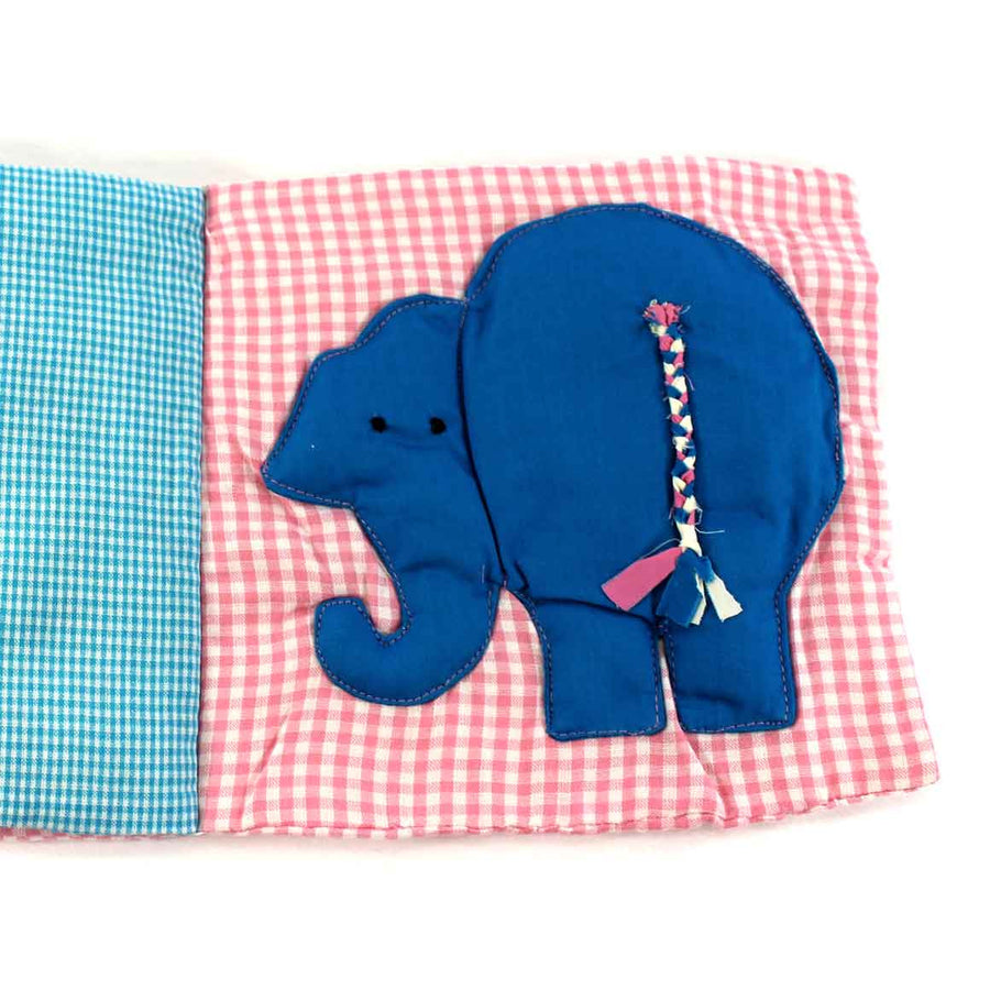 Fair Trade, Organic Baby Book: Animals Pink & Blue