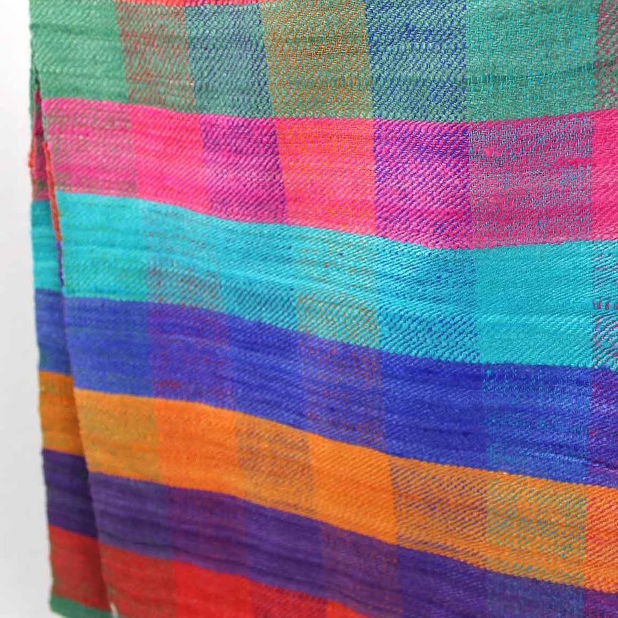 Fair Trade Ethical Rainbow Non-Violent Silk Scarf