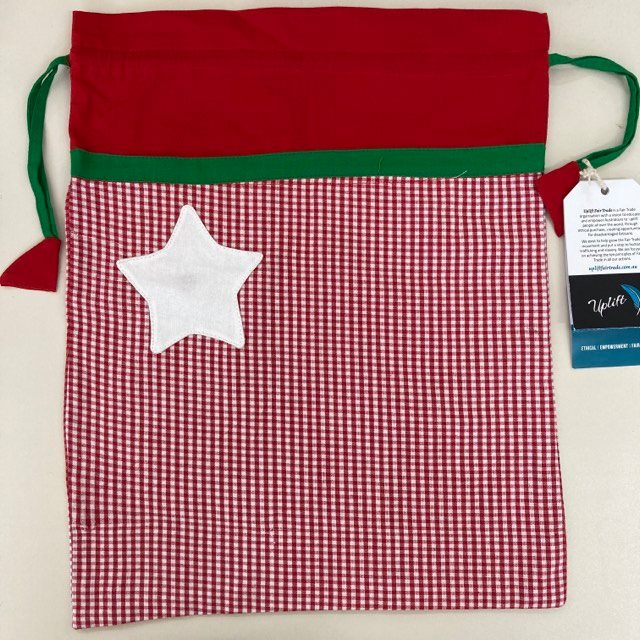 Fair Trade Cotton Christmas Gift Bags Large