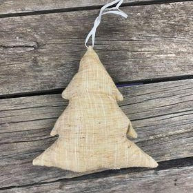 Fair Trade Remnant Fabric Tree Decorations - Brown, Grey, Black