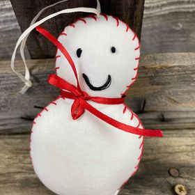 Fair Trade Remnant Fabric Snowman Decoration