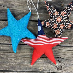 Fair Trade Remnant Fabric Star Decoration - Assorted