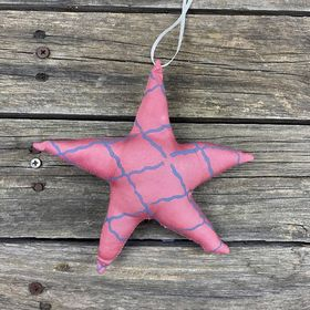 Fair Trade Remnant Fabric Star Decoration - Pinks