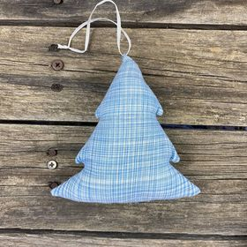 Fair Trade Remnant Fabric Tree Decorations - Blue