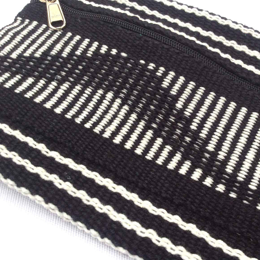 Fair Trade Ethical Hand Woven Pencil Case Black and White