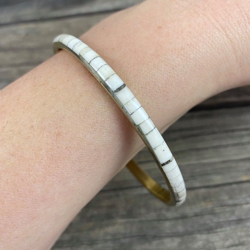 Fair Trade Thin Metal and Resin Bangle