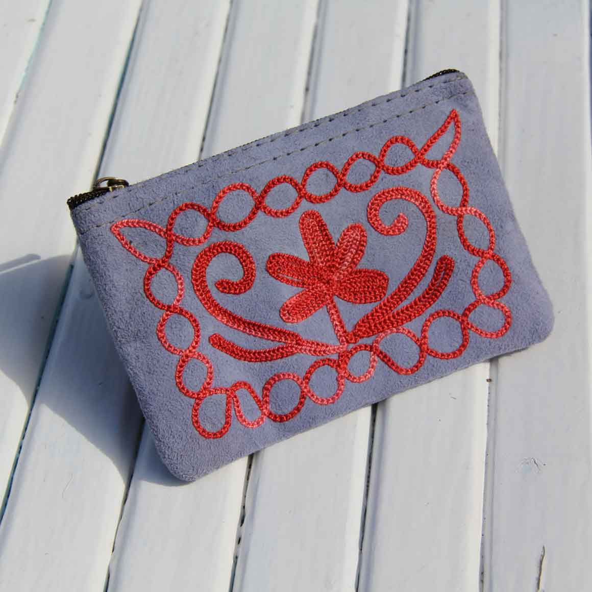 Fair Trade Ethical Suede Coin Purse Assorted