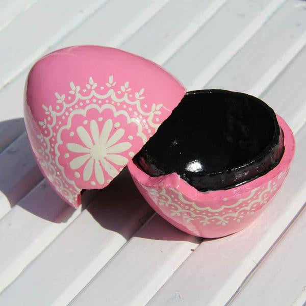 Fair Trade Egg Shaped Box - Pink