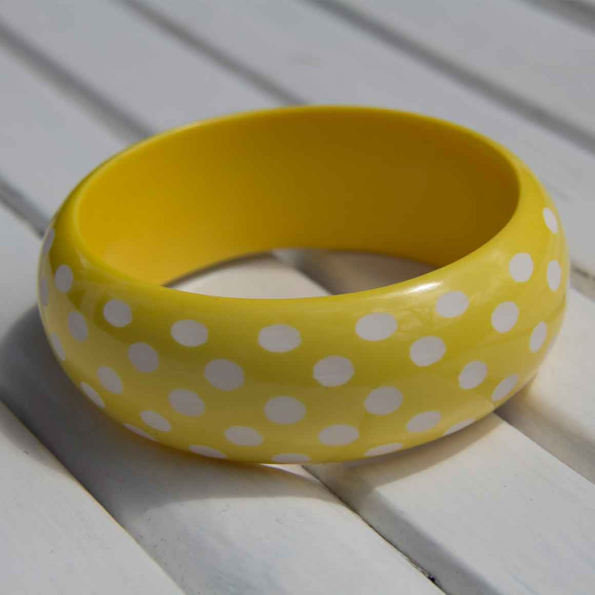 Fair Trade Ethical Resin Dot Bangle