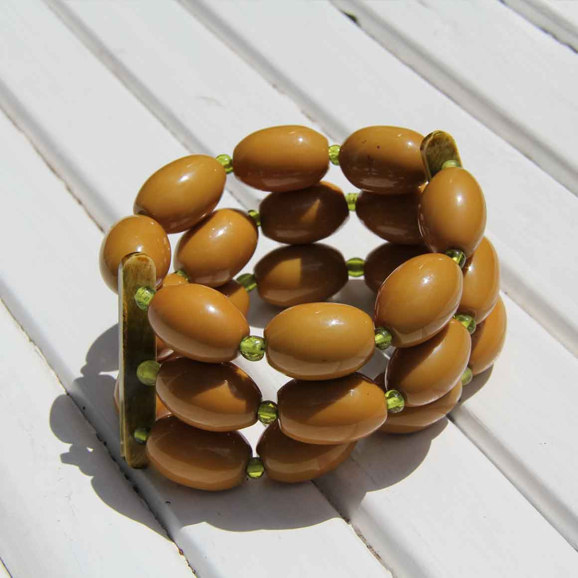 Fair Trade Ethical Resin Olive Bracelet