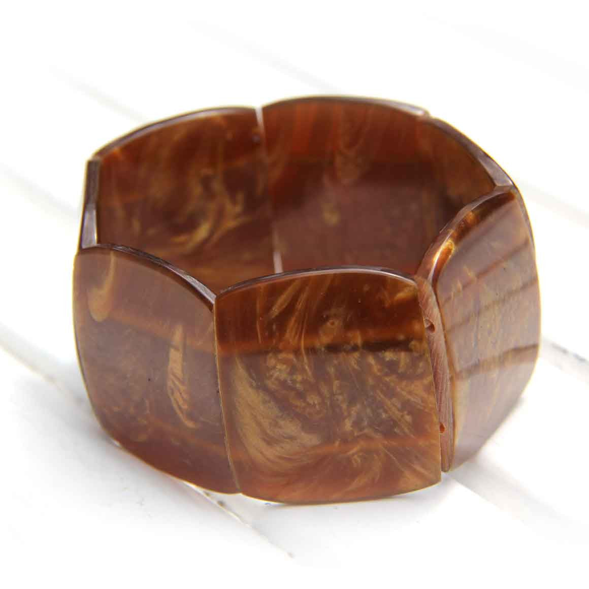 Fair Trade Resin Bracelet - Shell