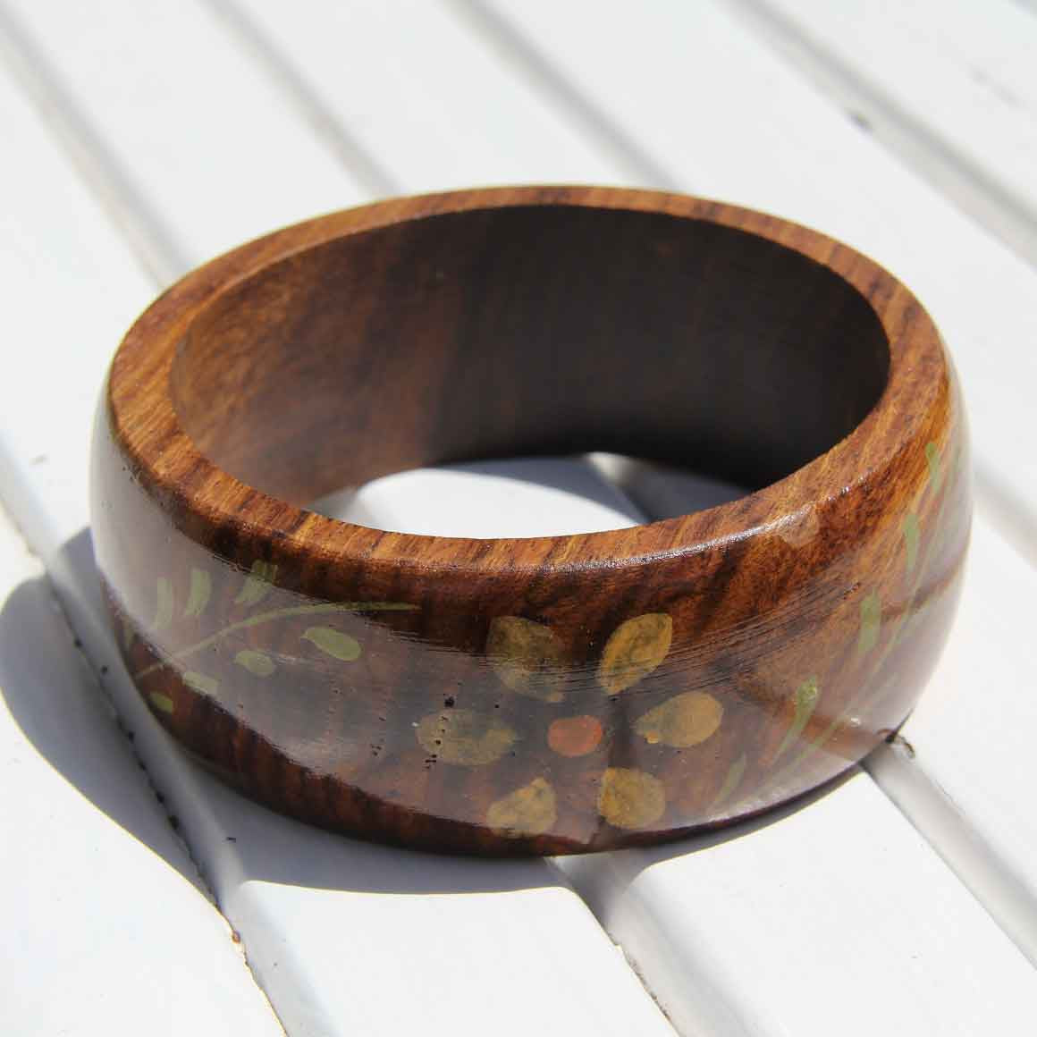 Fair Trade Ethical Wooden Painted Bangle