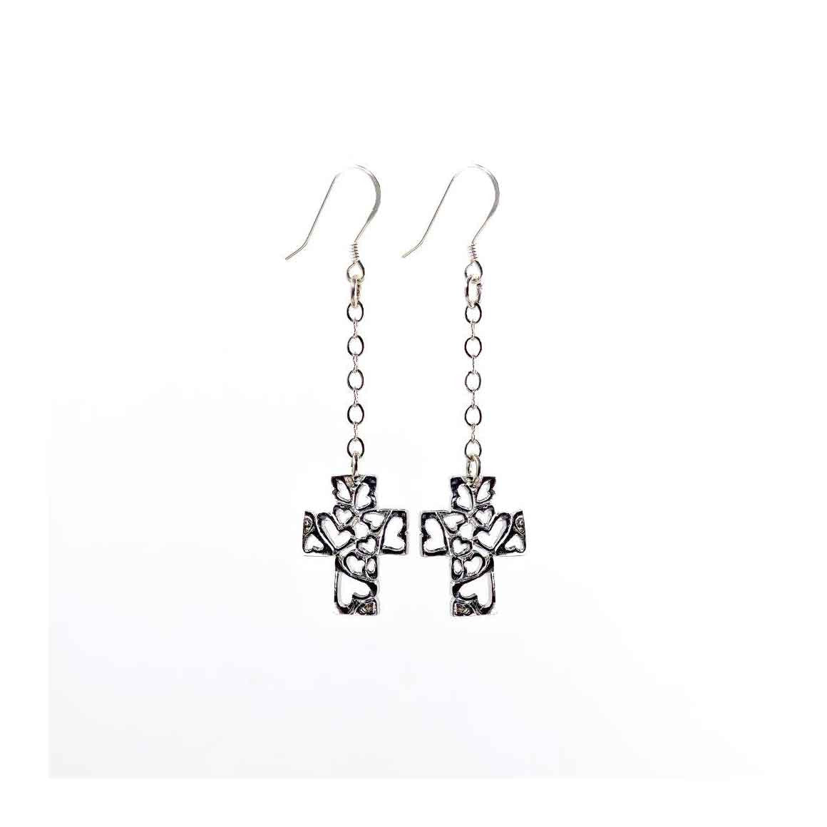 "Fair Trade Earrings ""Cross of Love"""