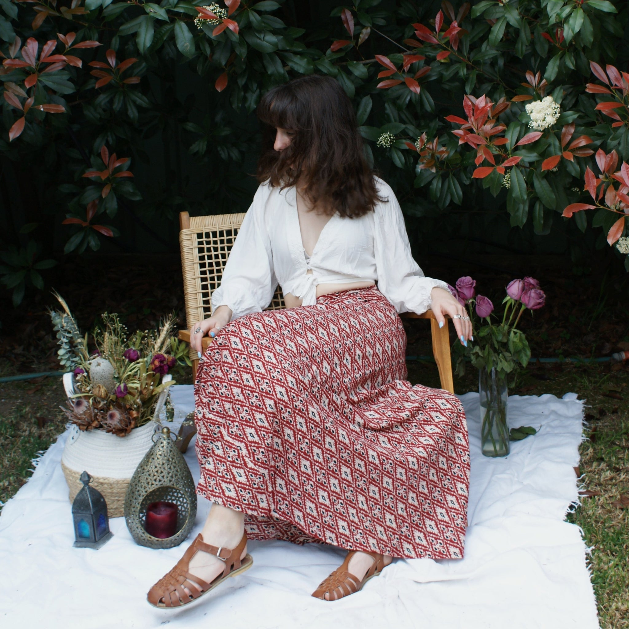 Fair Trade Cotton Long Wraparound Skirt