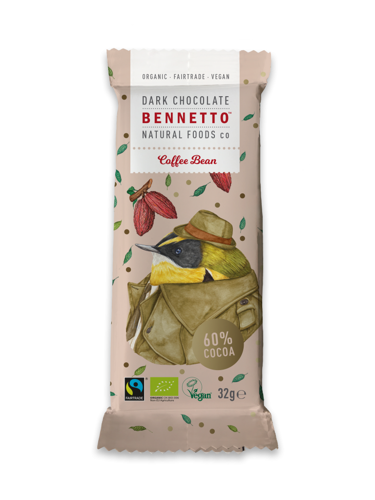 Fairtrade Ethical Organic Bennetto Mini Chocolate Bars