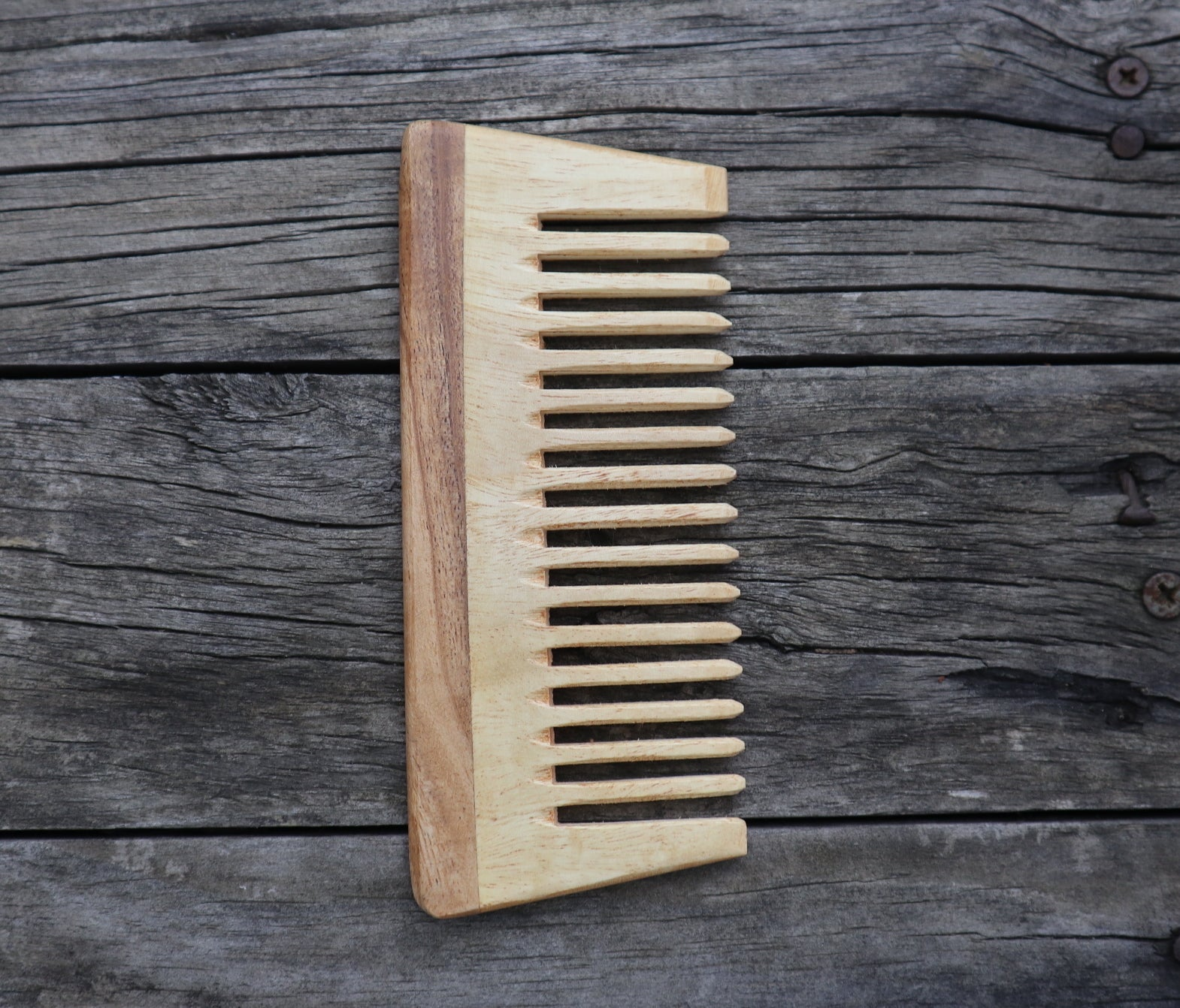 Fair Trade Ethical Wide Toothed Wood Comb