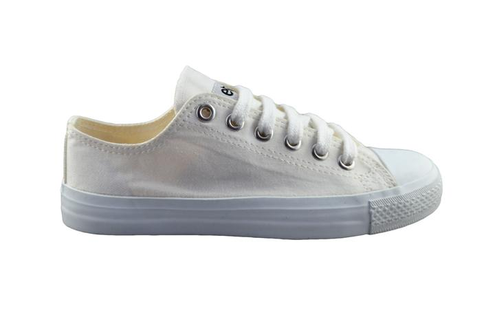 Etiko Fairtrade Lo-Cut All White Sneakers