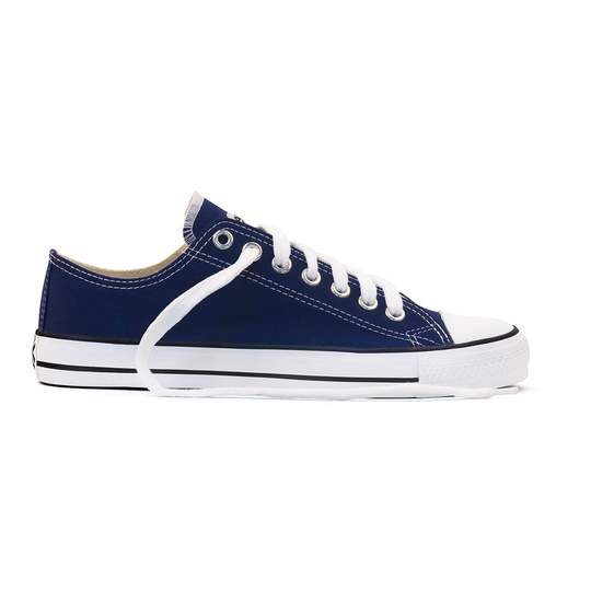 Etiko Fairtrade Lo Cut Blue White Sneakers
