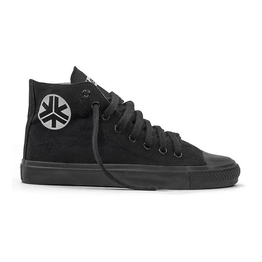 Etiko Fairtrade Hi Top All Black Sneakers