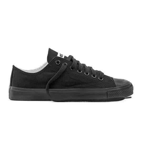 Etiko Fairtrade Low Cut All Black Sneakers