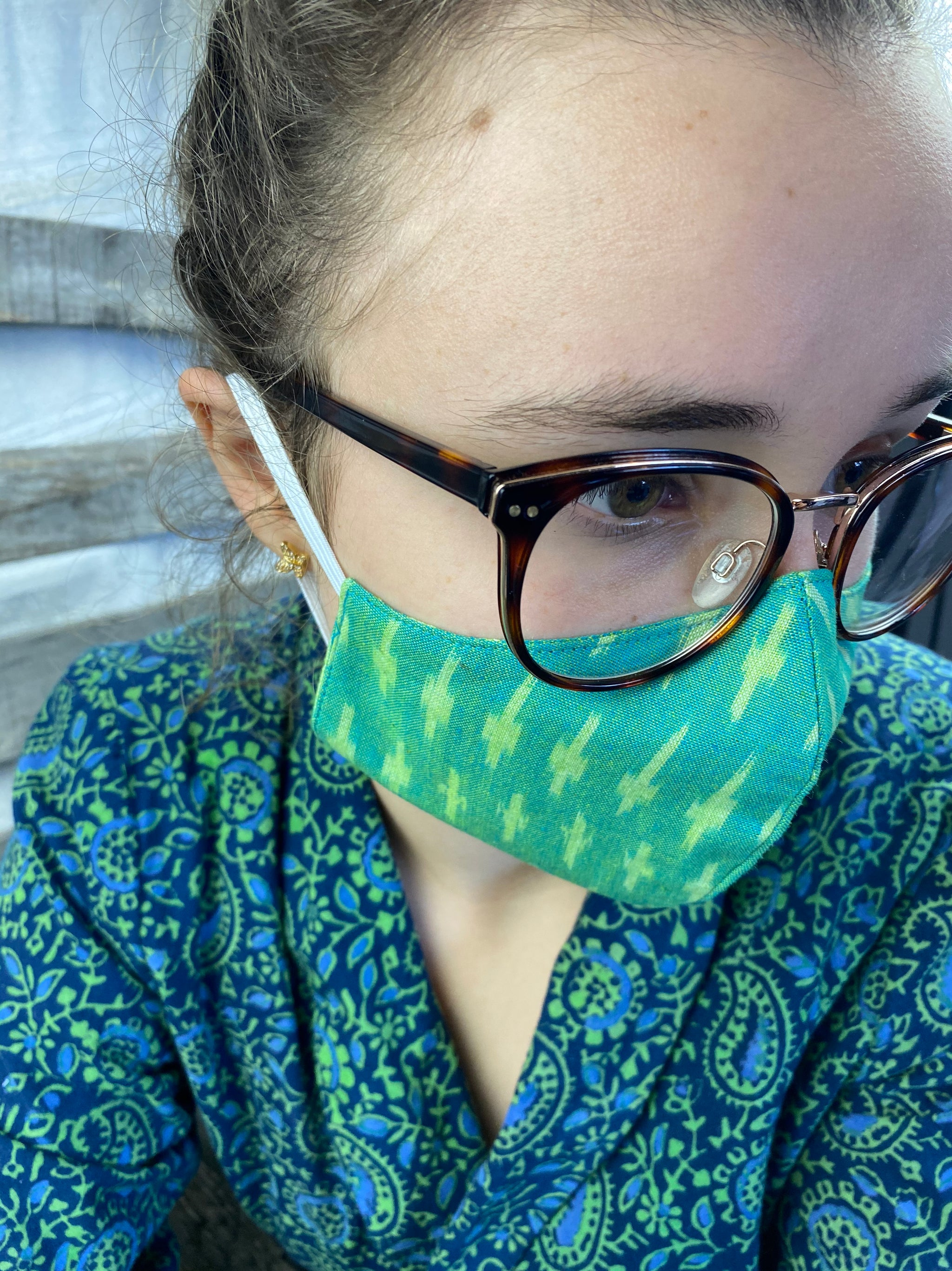 Fair Trade 3 Layer Organic V Shaped Adult Mask