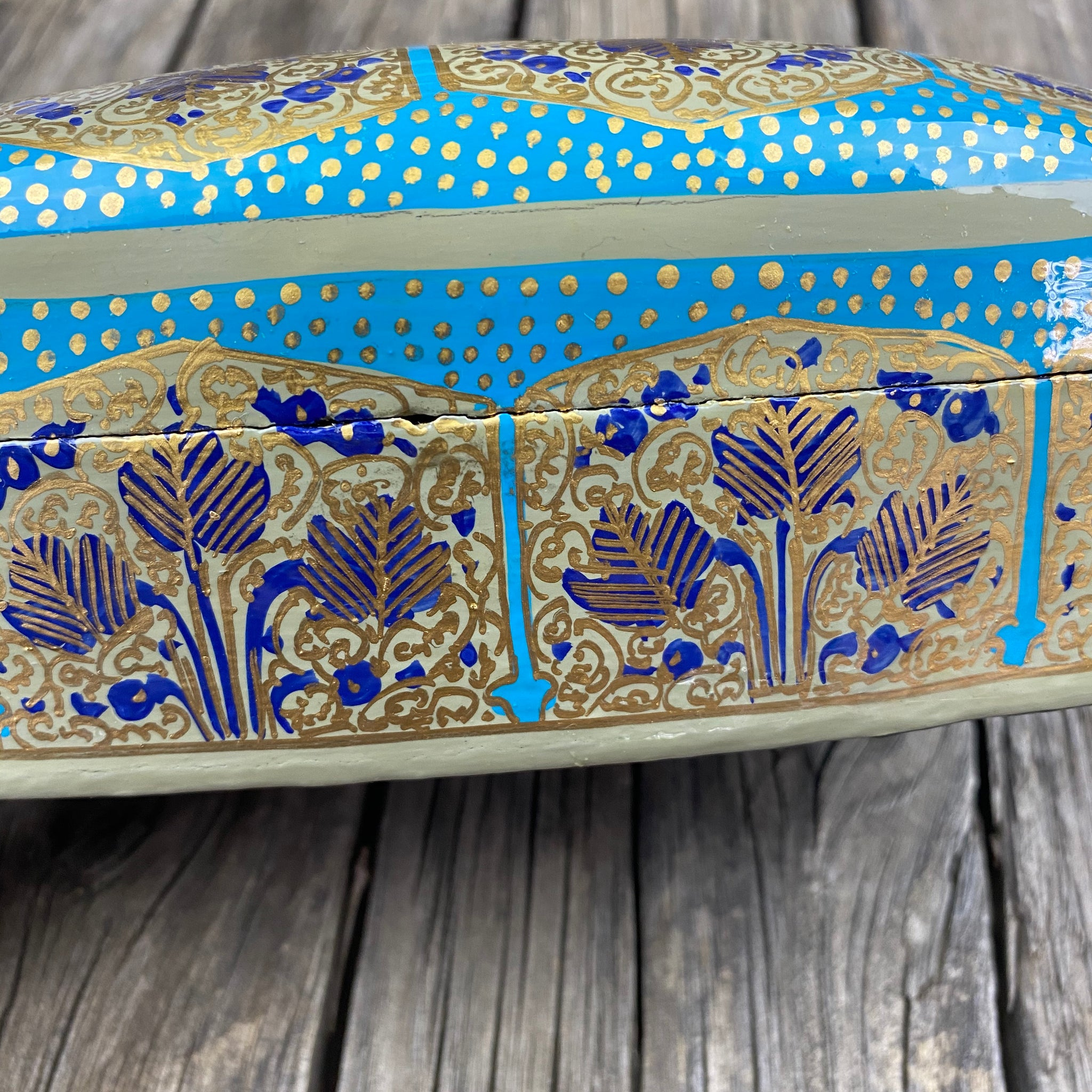 Fair Trade Leaf Paper Mache Box