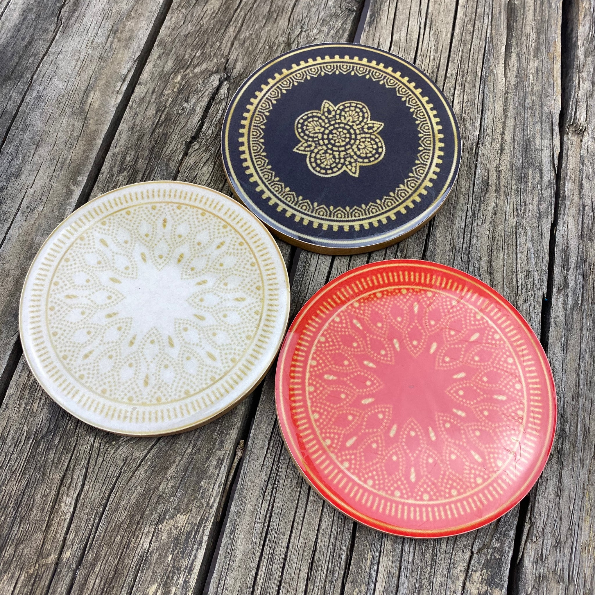 Fair Trade Ethical Round Resin Coasters