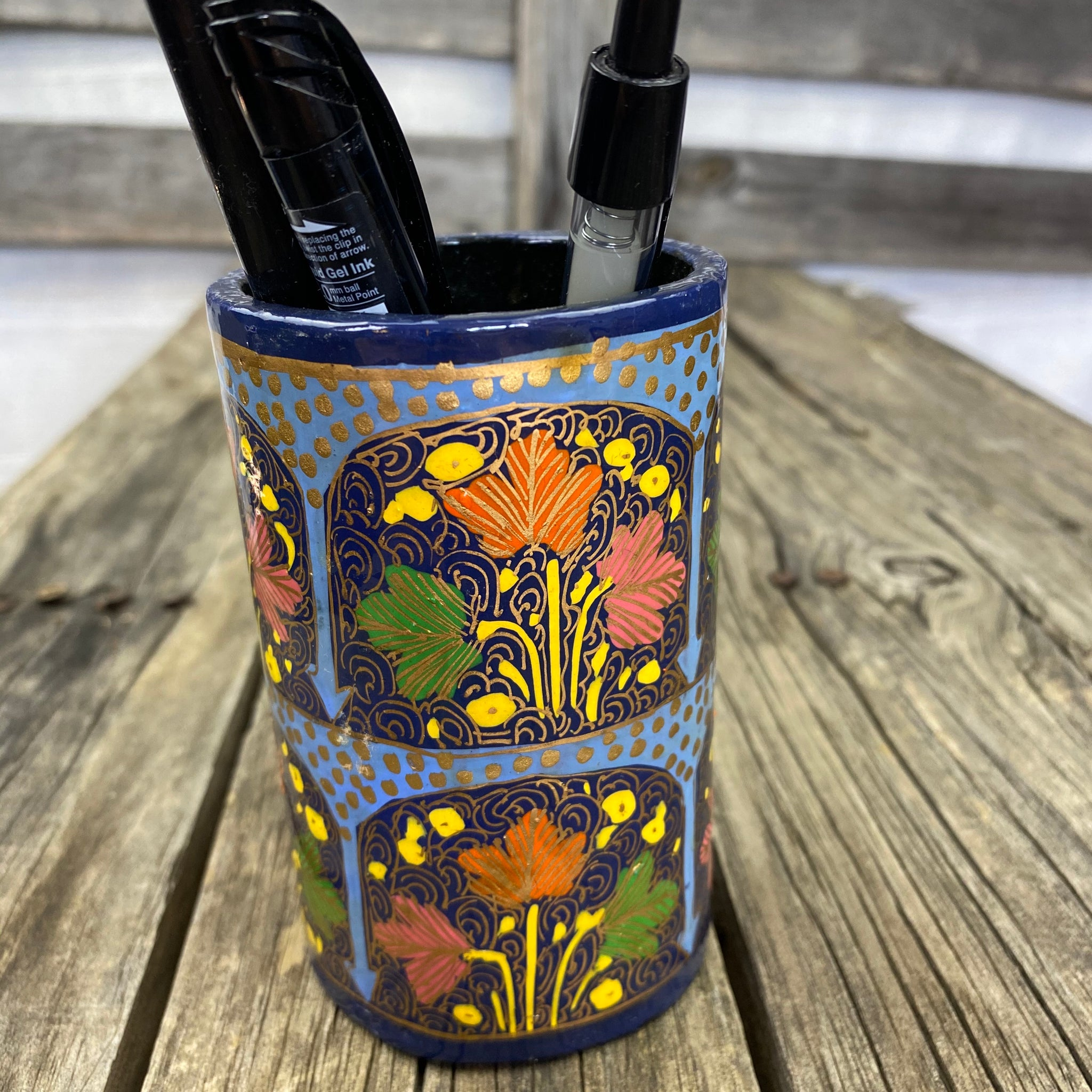 Fair Trade Hand Painted Pen Holders