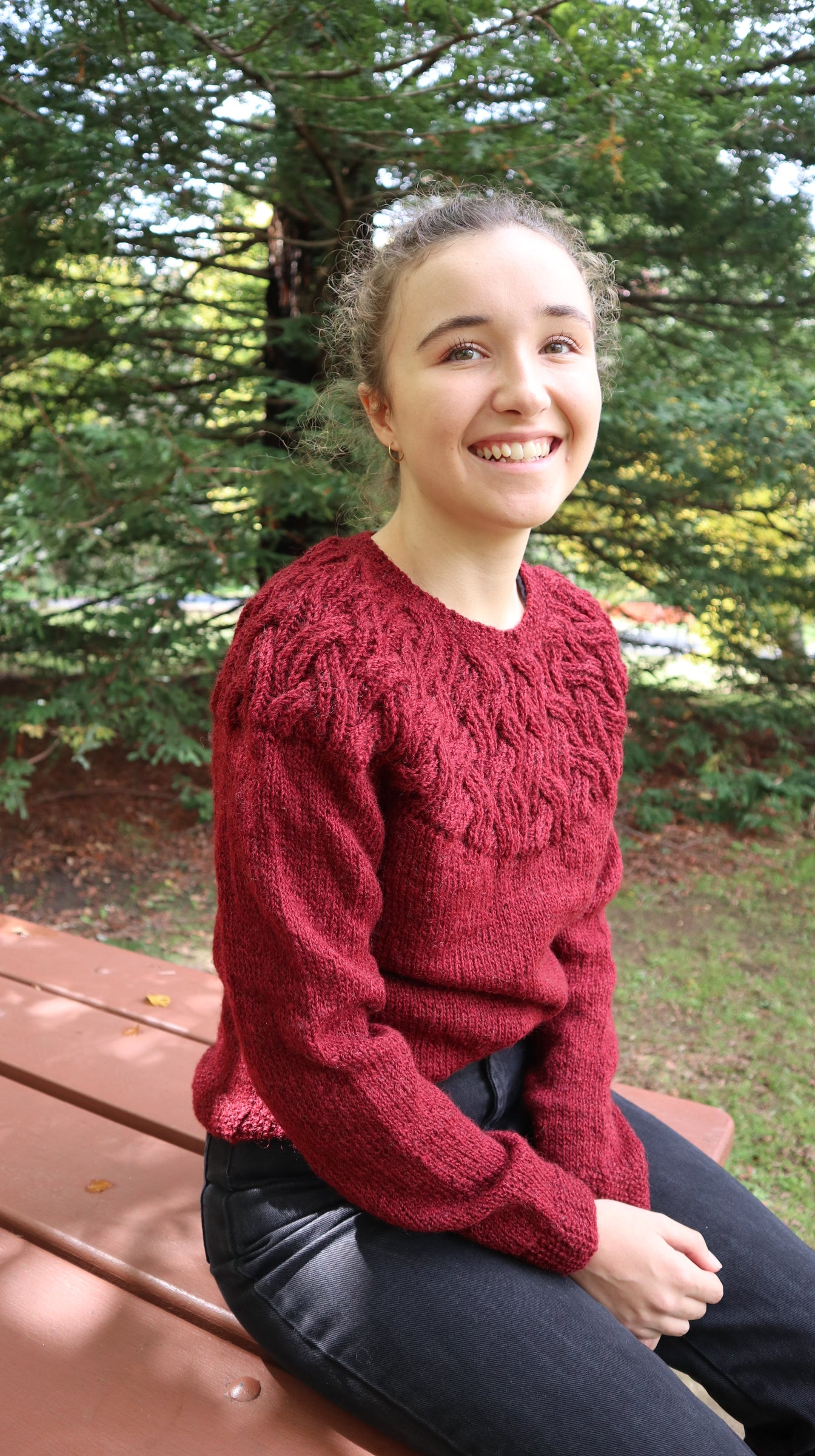 Fair Trade Ethical Women's Woollen Jumper with Yoke