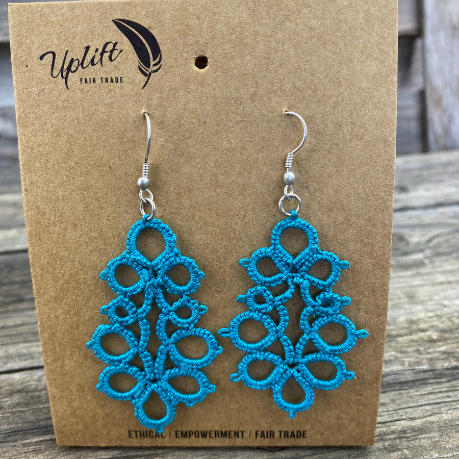 Fair Trade Earrings Tatted Pillars of Hope