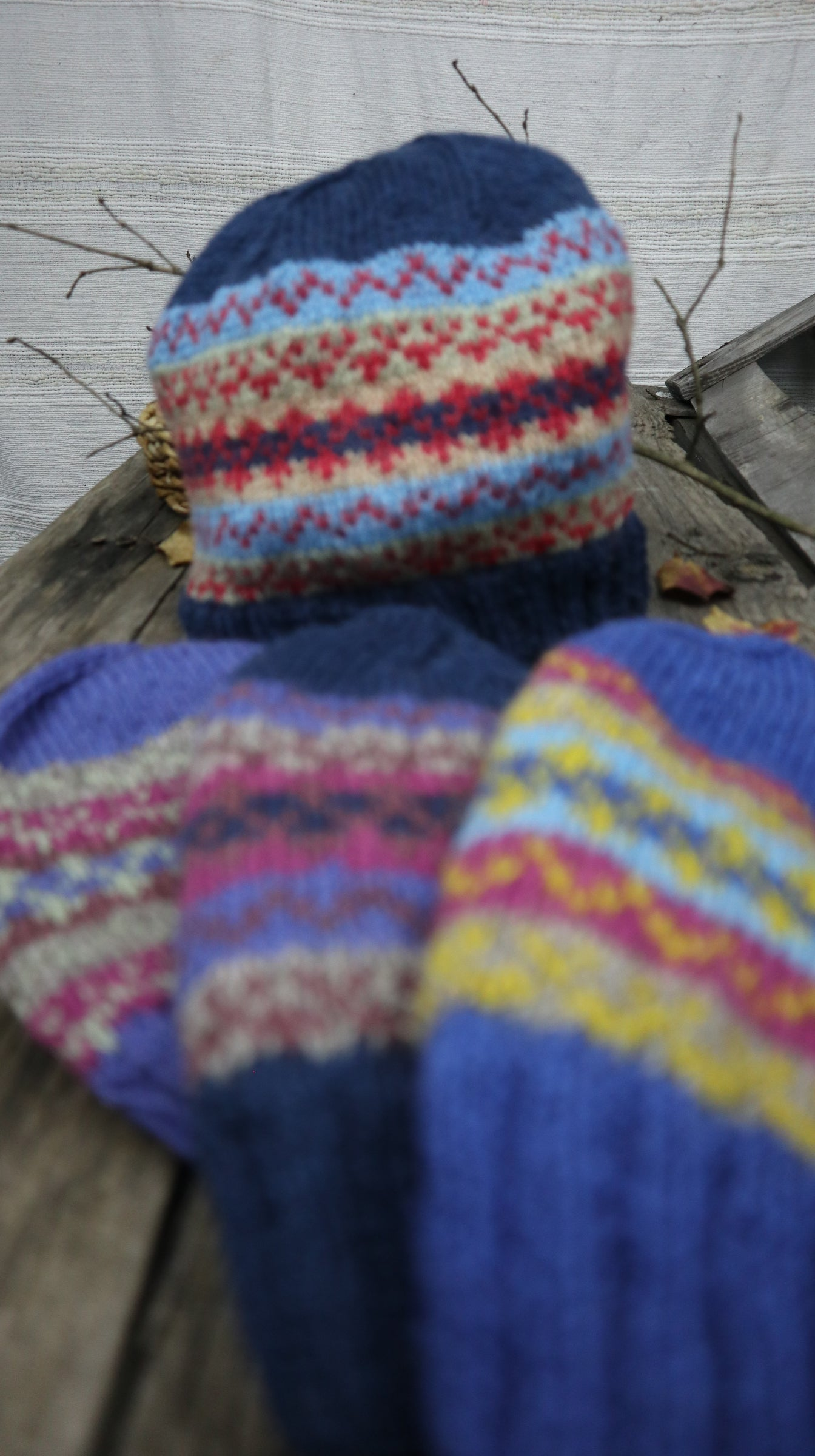 Fair Trade Ethical Woollen Beanie in Patterned Design