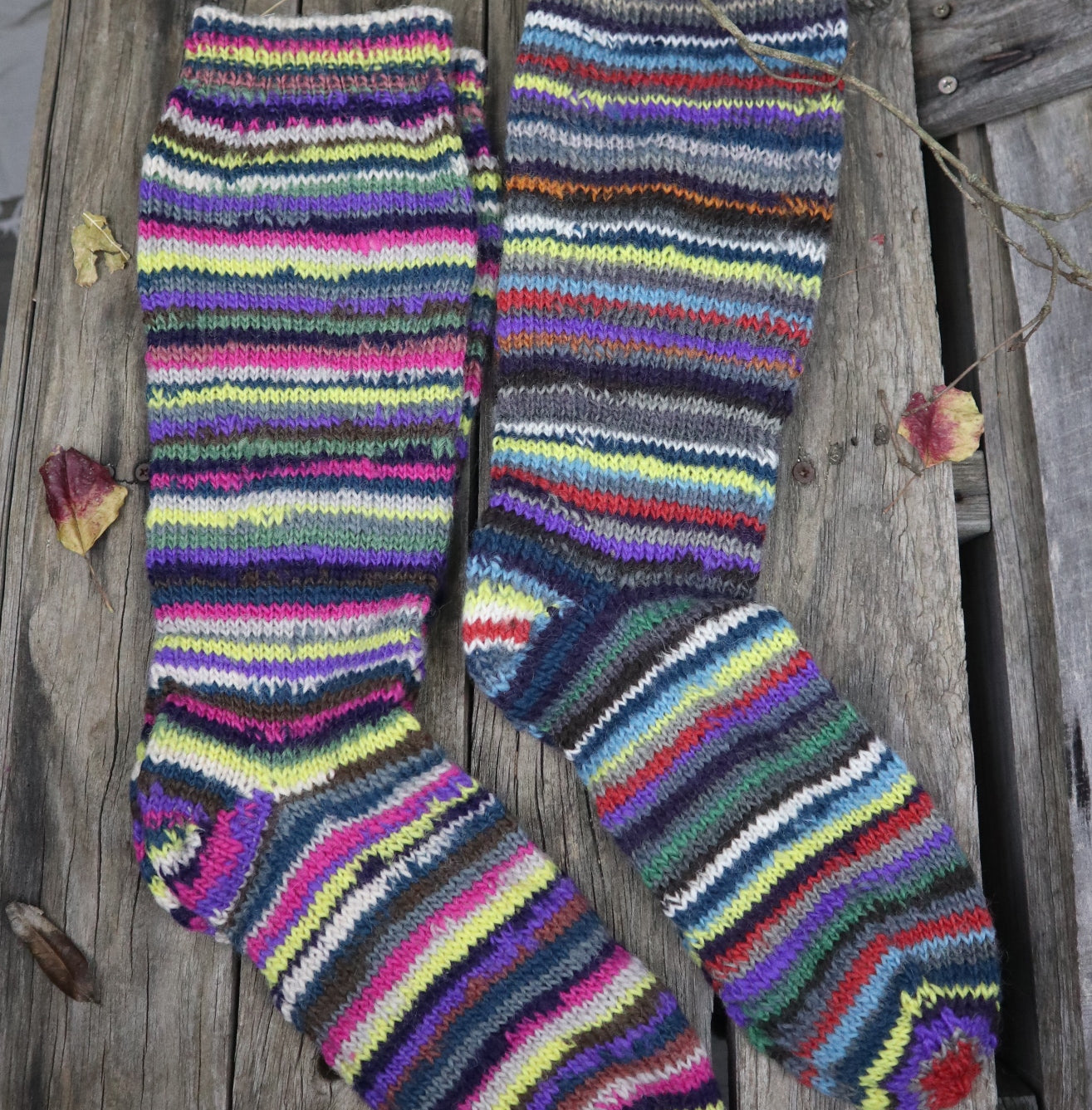 Fair Trade Ethical Adult Striped Socks in Yellow