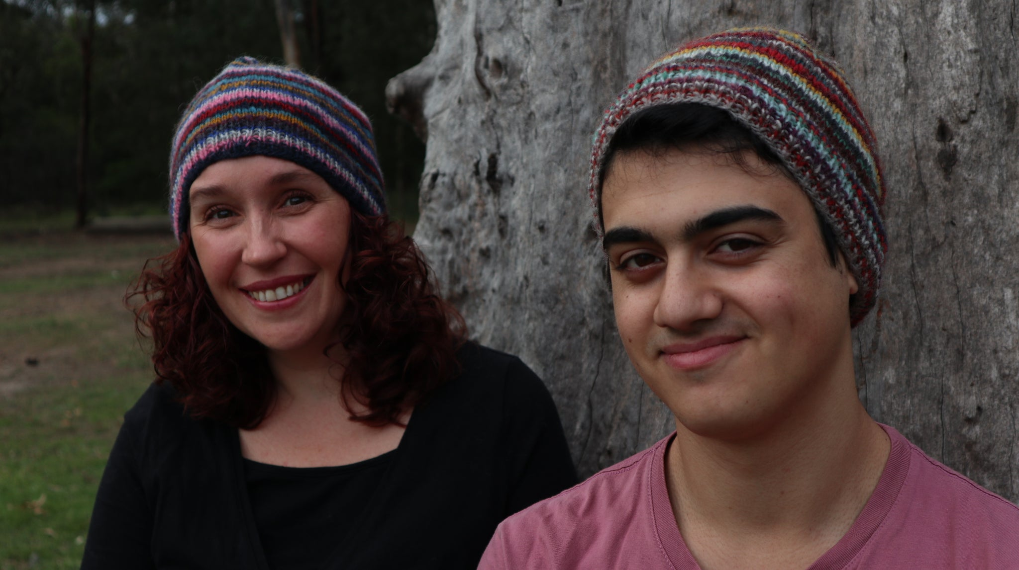 Fair Trade Ethical Woollen Beanie in a Striped Multi Coloured Design