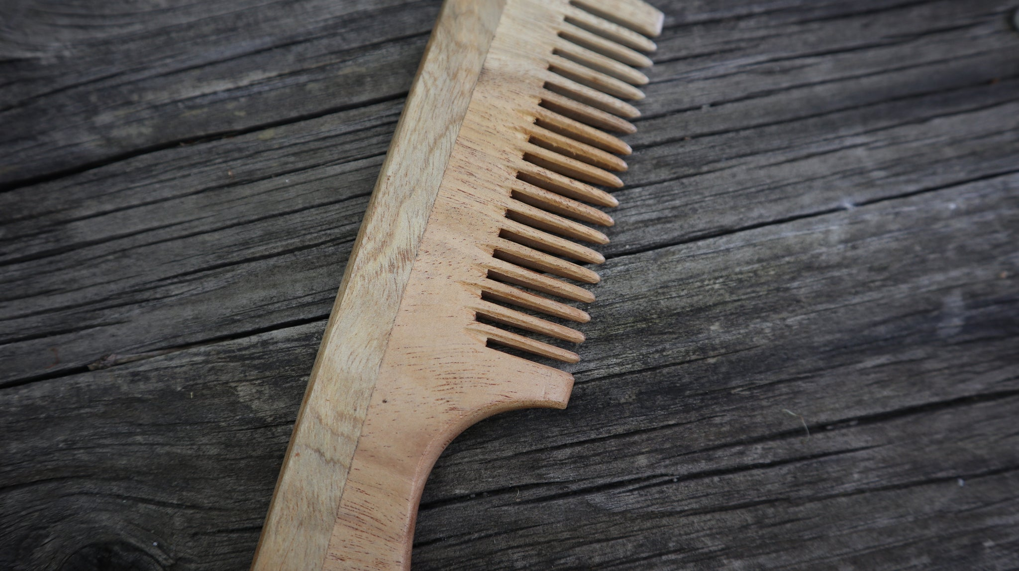 Fair Trade Ethical Wooden Comb with Handle