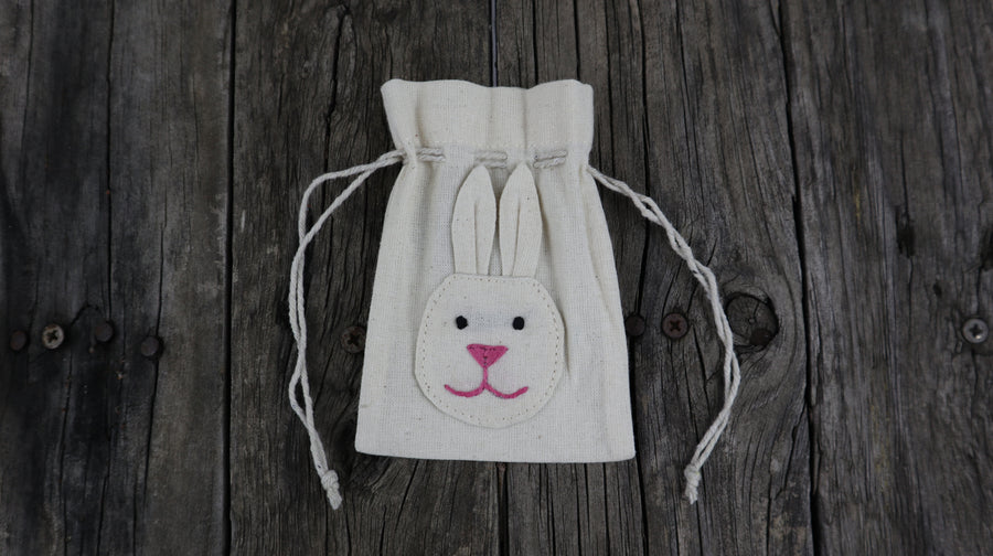 Fair Trade Ethical Small, Cotton Gift Bag Rabbit