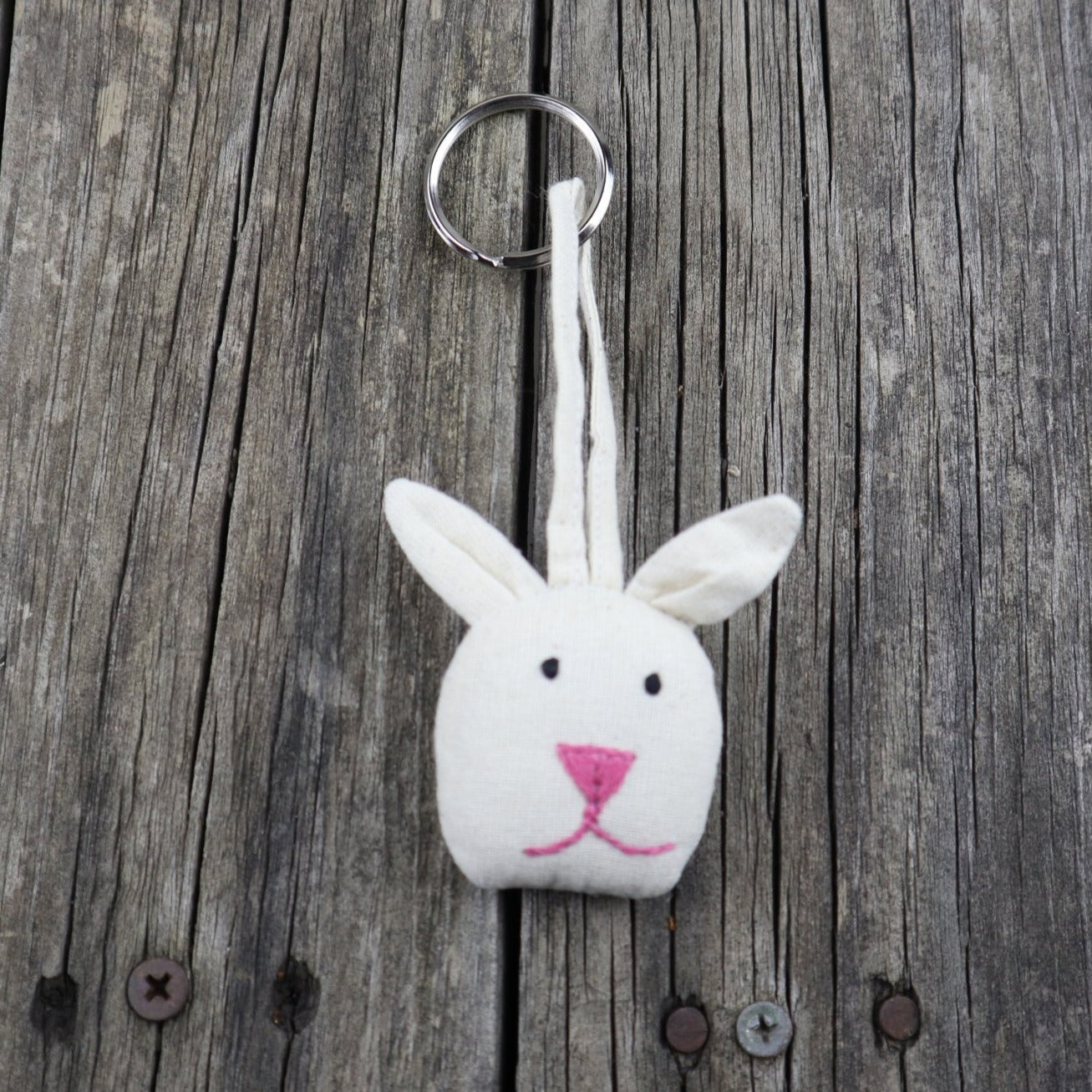 Fair Trade Ethical Cotton Keyring Rabbit