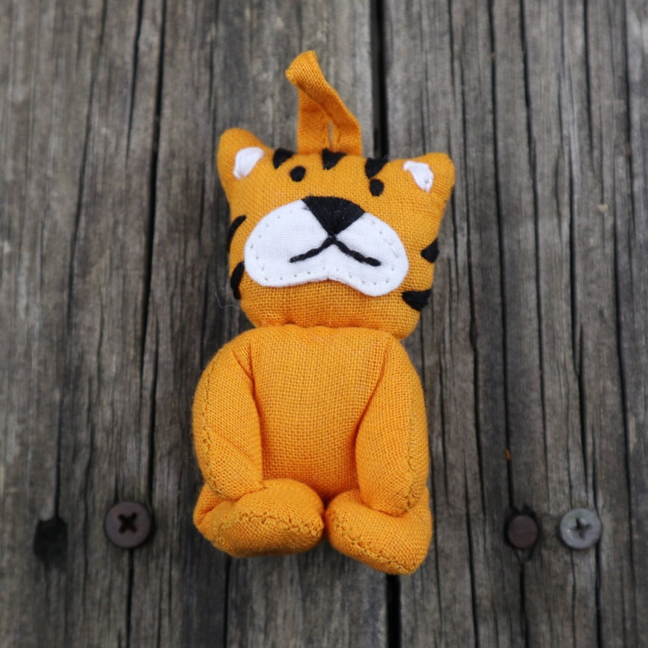 Fair Trade Ethical Small Cotton Fob Tiger