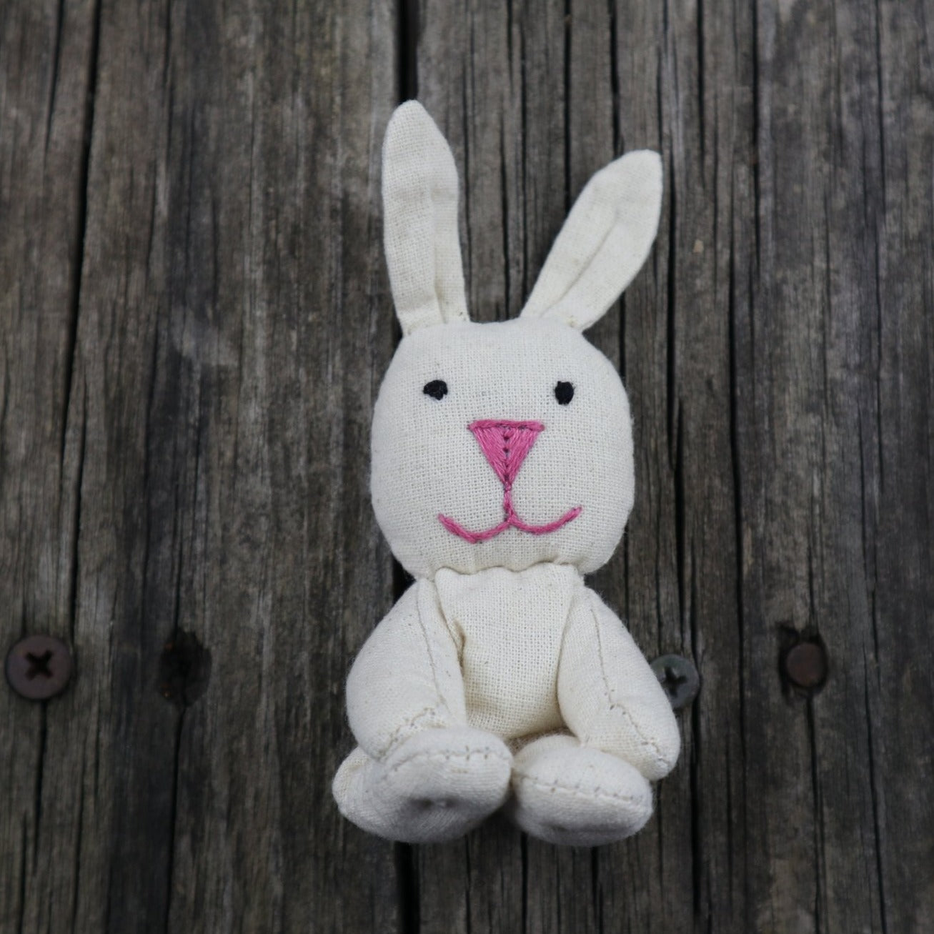 Fair Trade Ethical Small Cotton Sitting Toy Rabbit