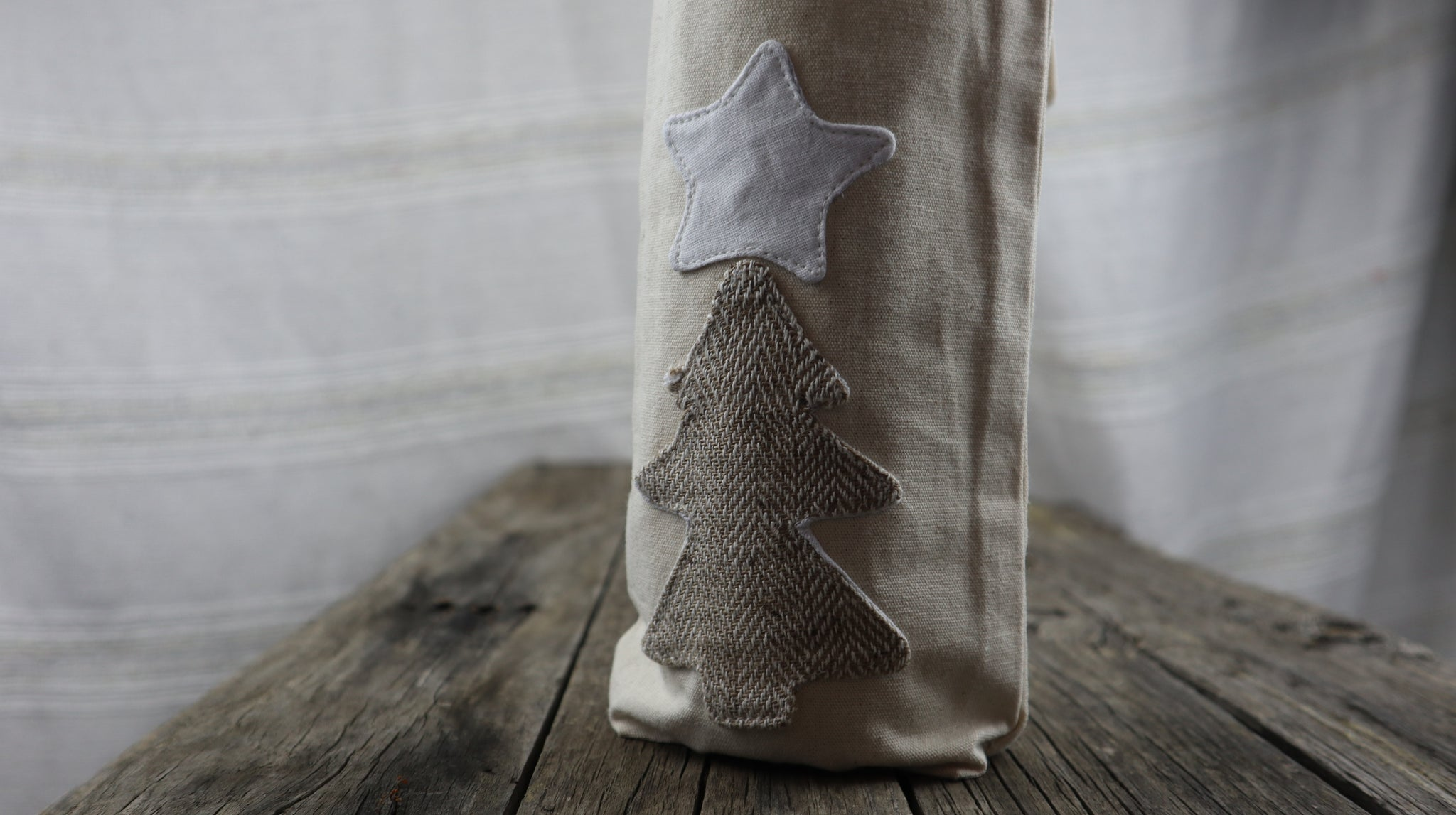 Fair Trade Ethical Christmas Wine Bag