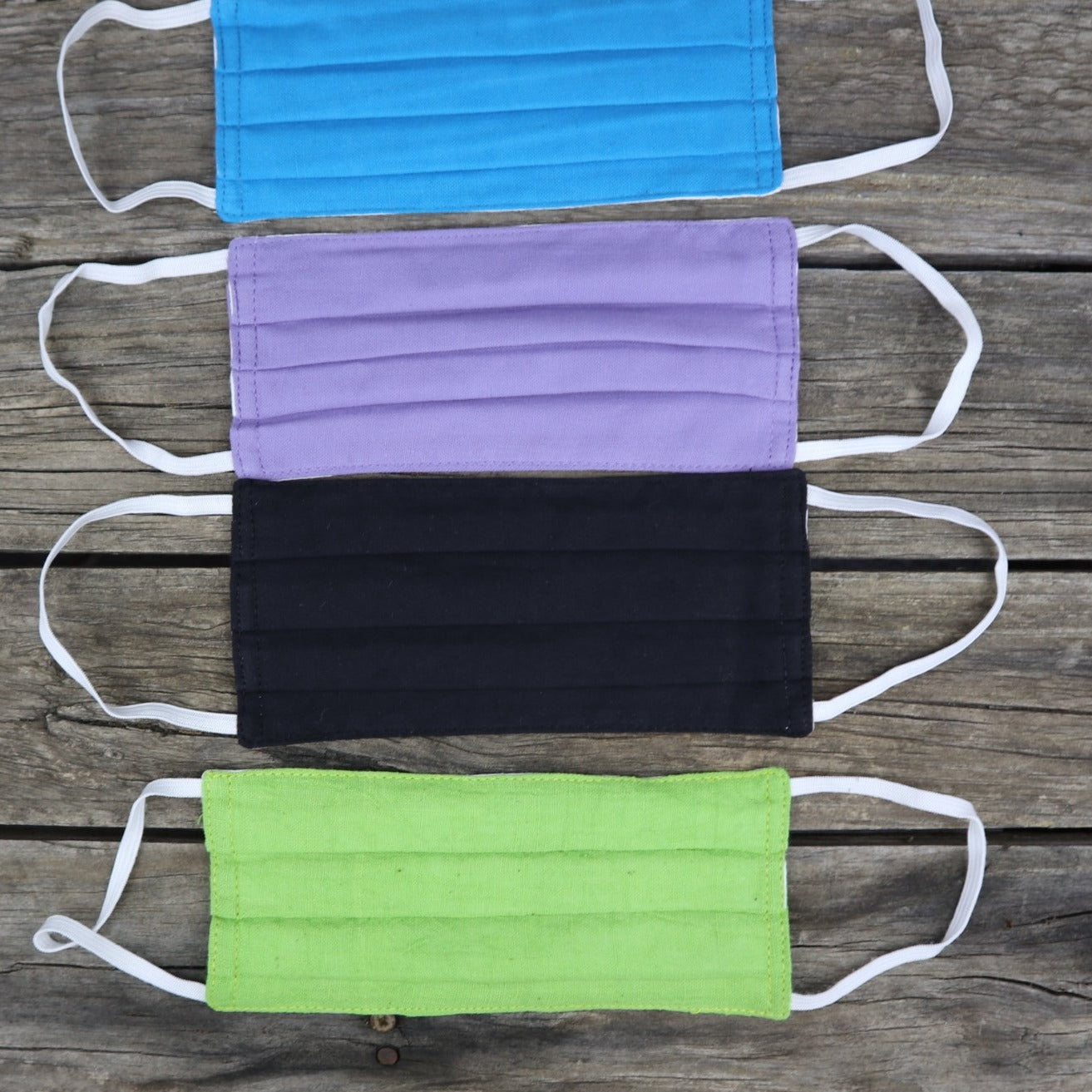 Fair Trade Ethical 3 Layer Cotton Face Masks Plain Colours