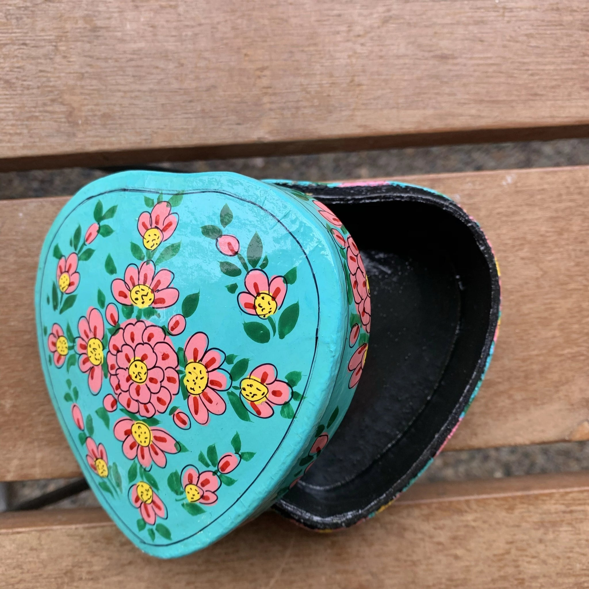 Turquoise Heart Box