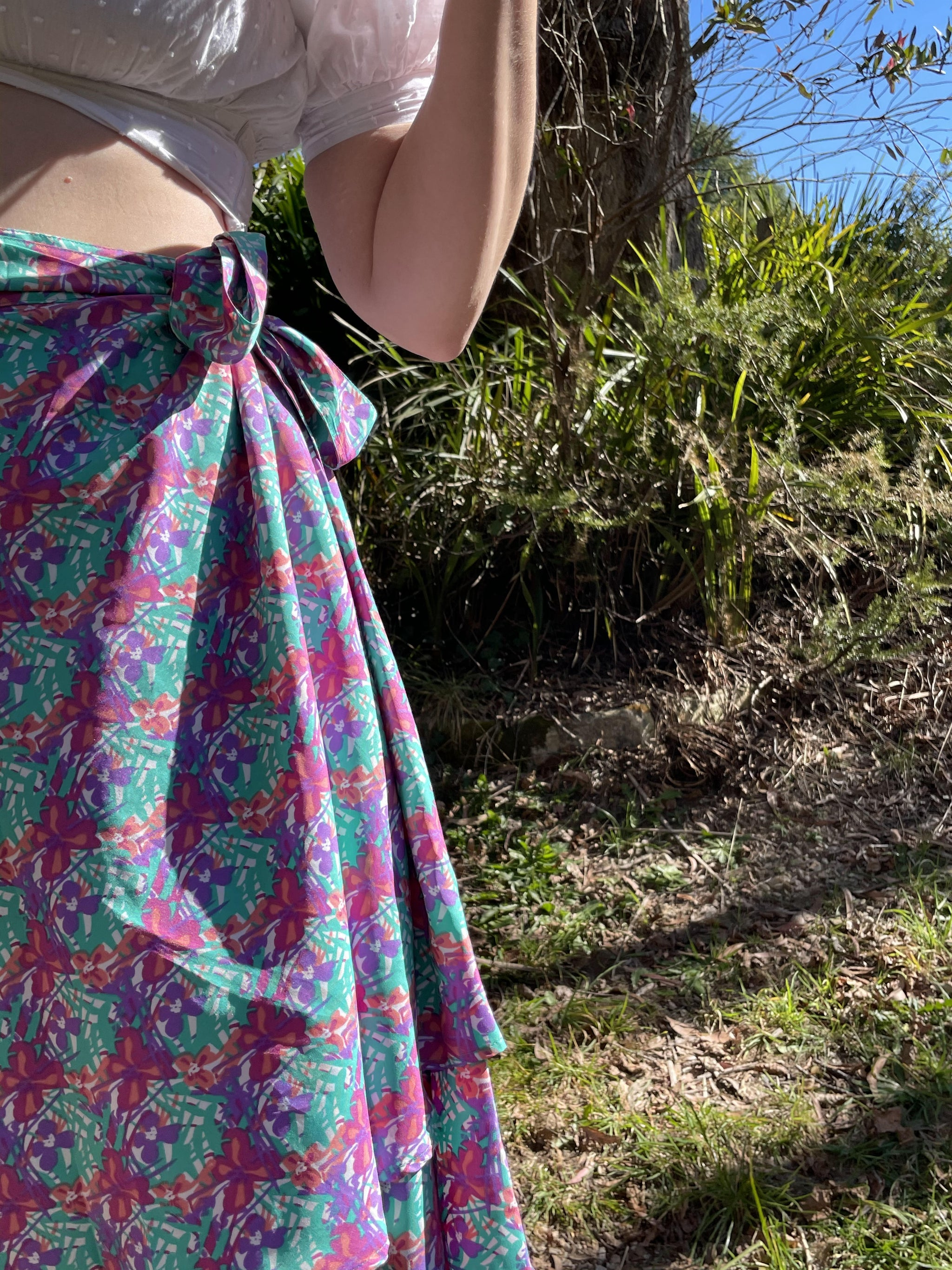 Fair Trade Freedom Upcycled Fabric Wrap Skirt