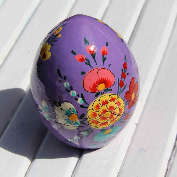 Fair Trade Egg Shaped Box - Purple