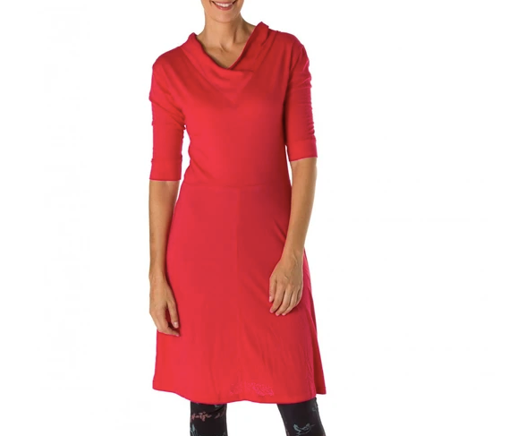 Fair Trade V-Neck Cotton and Bamboo Dress | Sinerji