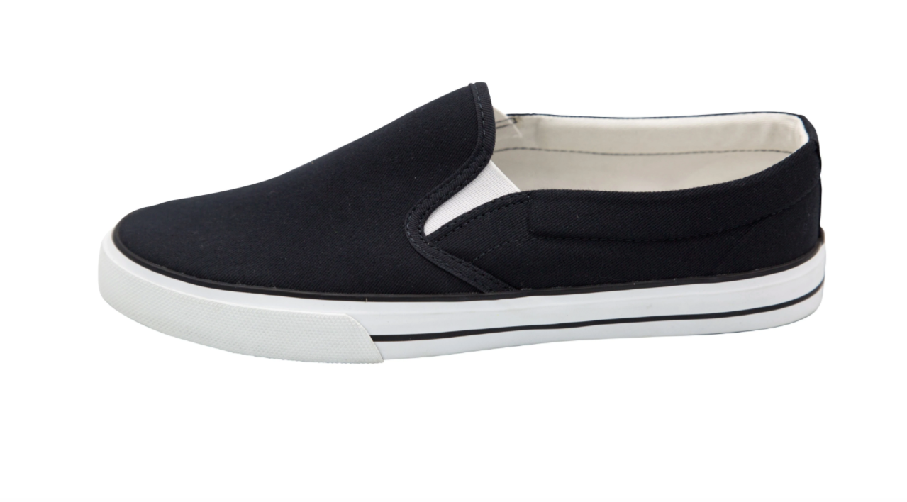 Fairtrade Slip On Black & White Etiko Shoes
