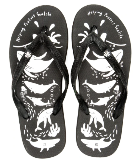 Fair Trade Etiko Thongs Black-Sea Shepherd