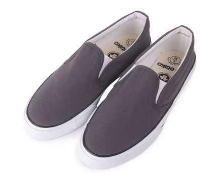 Fairtrade Slip On Grey & White Etiko Shoes