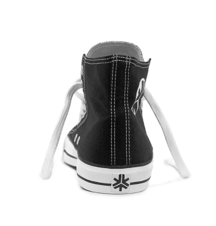 Etiko Fairtrade Hi Top Black White Sneakers