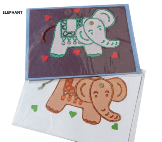 Fair Trade Movable Elephant Card (Assorted)